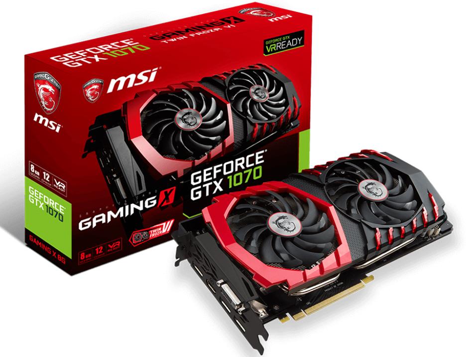 GeForce GTX1070 8GB MSI製 GeForce GTX1070 GAMING X 8G