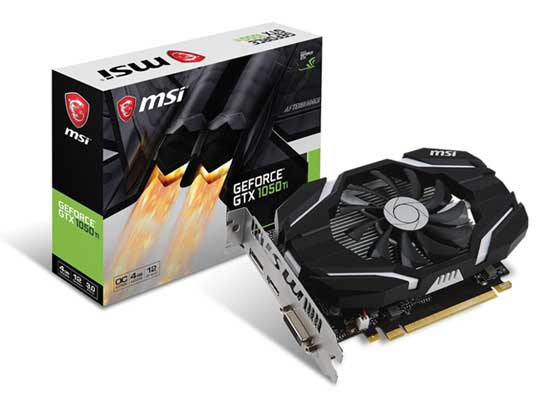 MSI GeForce GTX1050Ti 4G OC